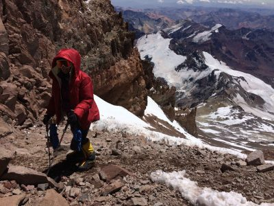 Karin on Aconcagua via the 360 route